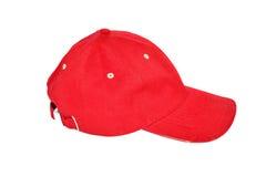 κόκκινο καπέλων του μπέιζμ Στοκ Φωτογραφίες