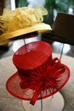 κόκκινο καπέλων Στοκ εικόνες με δικαίωμα ελεύθερης χρήσης