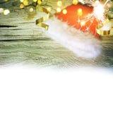 Κόκκινο καπέλο Άγιου Βασίλη νέο έτος Στοκ εικόνα με δικαίωμα ελεύθερης χρήσης