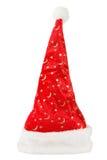 Κόκκινο καπέλο Χριστουγέννων με την άσπρη γούνα Στοκ Εικόνες