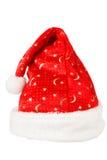 Κόκκινο καπέλο Χριστουγέννων με την άσπρη γούνα Στοκ εικόνες με δικαίωμα ελεύθερης χρήσης
