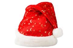 Κόκκινο καπέλο Χριστουγέννων με την άσπρη γούνα Στοκ εικόνα με δικαίωμα ελεύθερης χρήσης