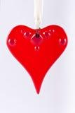 κόκκινο καρδιών ένωσης γυαλιού Στοκ Εικόνες