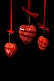 κόκκινο καρδιών ένωσης Χρι& Στοκ φωτογραφία με δικαίωμα ελεύθερης χρήσης