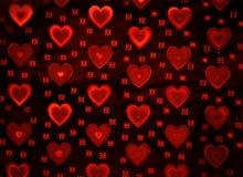 κόκκινο καρδιών ανασκόπησης Στοκ εικόνες με δικαίωμα ελεύθερης χρήσης