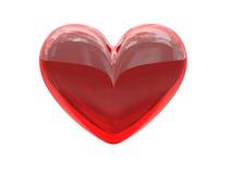 κόκκινο καρδιών γυαλιού Στοκ φωτογραφία με δικαίωμα ελεύθερης χρήσης