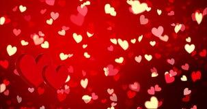 κόκκινο καρδιών ευτυχείς βαλεντίνοι ημέ&rho απεικόνιση αποθεμάτων