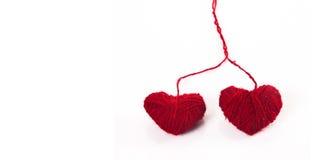 κόκκινο καρδιών ινών Στοκ Εικόνα