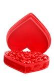 κόκκινο καρδιών καρδιών κ&alph Στοκ φωτογραφία με δικαίωμα ελεύθερης χρήσης