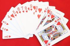 κόκκινο καρδιών καρτών Στοκ εικόνες με δικαίωμα ελεύθερης χρήσης