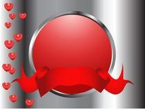 κόκκινο καρδιών κουμπιών διανυσματική απεικόνιση