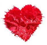 κόκκινο καρδιών Κόκκινη καρδιά κόκκινη μορφή Στοκ εικόνα με δικαίωμα ελεύθερης χρήσης