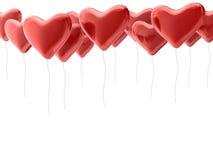 κόκκινο καρδιών μπαλονιών Στοκ φωτογραφίες με δικαίωμα ελεύθερης χρήσης