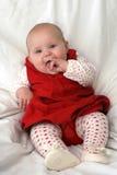 κόκκινο καρδιών μωρών Στοκ Εικόνες