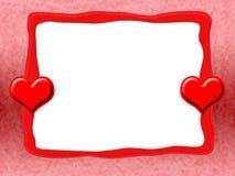 κόκκινο καρδιών πλαισίων Στοκ φωτογραφία με δικαίωμα ελεύθερης χρήσης