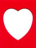 κόκκινο καρδιών πλαισίων Στοκ φωτογραφίες με δικαίωμα ελεύθερης χρήσης