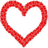 κόκκινο καρδιών πλαισίων Στοκ Εικόνες
