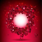 κόκκινο καρδιών πλαισίων &kapp Στοκ φωτογραφίες με δικαίωμα ελεύθερης χρήσης