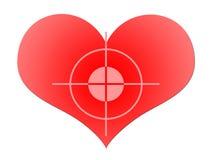 κόκκινο καρδιών στόχου Στοκ φωτογραφία με δικαίωμα ελεύθερης χρήσης