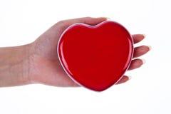 κόκκινο καρδιών χεριών Στοκ Εικόνες