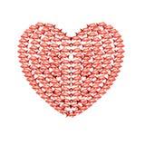 κόκκινο καρδιών ψαριών Στοκ εικόνες με δικαίωμα ελεύθερης χρήσης