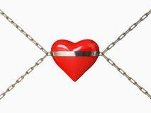 κόκκινο καρδιών διανυσματική απεικόνιση