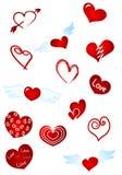 κόκκινο καρδιών Στοκ εικόνες με δικαίωμα ελεύθερης χρήσης