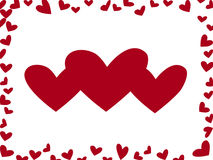 κόκκινο καρδιών απεικόνιση αποθεμάτων
