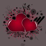 κόκκινο καρδιών Στοκ φωτογραφία με δικαίωμα ελεύθερης χρήσης