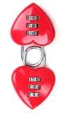 κόκκινο καρδιών locke που δια& Στοκ φωτογραφία με δικαίωμα ελεύθερης χρήσης