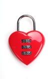 κόκκινο καρδιών locke που δια& Στοκ Φωτογραφία