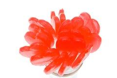 κόκκινο καρδιών lollipop στοκ φωτογραφία