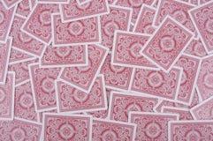 κόκκινο καρτών ανασκόπηση&sig Στοκ Φωτογραφία
