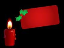 κόκκινο καρτών κεριών Στοκ Φωτογραφίες