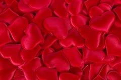 κόκκινο καρδιών ανασκόπησης Στοκ Φωτογραφίες