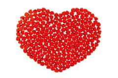 κόκκινο καρδιών γυαλιού Στοκ εικόνα με δικαίωμα ελεύθερης χρήσης