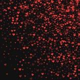 κόκκινο καρδιών κομφετί Στοκ εικόνα με δικαίωμα ελεύθερης χρήσης