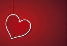 Κόκκινο καρδιών προτύπων Στοκ Εικόνες