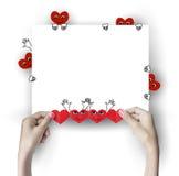 κόκκινο καρδιών χεριών Στοκ φωτογραφίες με δικαίωμα ελεύθερης χρήσης