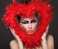 κόκκινο καρδιών Στοκ εικόνα με δικαίωμα ελεύθερης χρήσης