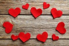 κόκκινο καρδιών Στοκ φωτογραφίες με δικαίωμα ελεύθερης χρήσης