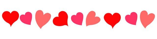 κόκκινο καρδιών Στοκ Εικόνα
