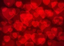 Κόκκινο καρδιών bokeh υπόβαθρο διακοπών υποβάθρου διανυσματικό, αφηρημένο Στοκ φωτογραφία με δικαίωμα ελεύθερης χρήσης