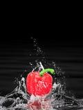 κόκκινο καταβρέχοντας ύδωρ πιπεριών Στοκ Εικόνα
