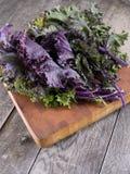 κόκκινο κατσαρού λάχανο&upsi Στοκ φωτογραφίες με δικαίωμα ελεύθερης χρήσης