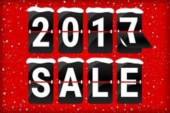 Κόκκινο κειμένων κτυπήματος χειμερινής πώλησης 2017 αναλογικό απεικόνιση αποθεμάτων