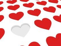 κόκκινο κενό καρδιών Στοκ Εικόνες