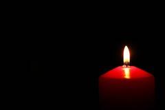 Κόκκινο κερί αναμμένο δεξιά Στοκ Εικόνα