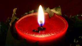 Κόκκινο κερί απόθεμα βίντεο