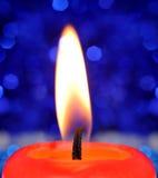 κόκκινο κεριών καψίματος Στοκ Εικόνα